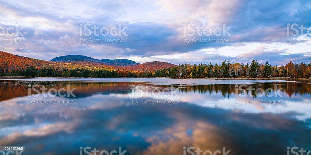Loon Lake In Autumn stock photo