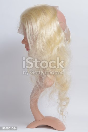 Loop Circled Sewed Body Wavy Bleached Blonde Human Hair Weaves Lace Frontal Closure Stock Photo & More Pictures of Beauty