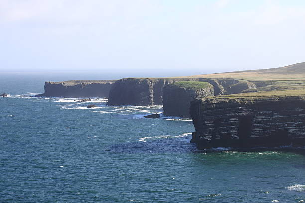 loop head cliffs - county clare stock pictures, royalty-free photos & images