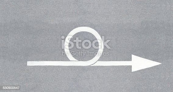 istock Loop iteration, sprint illustrated as street arrow 530900547