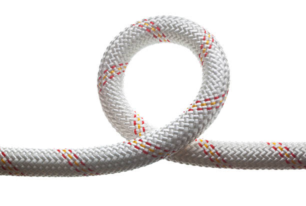 Loop of safety rope stock photo