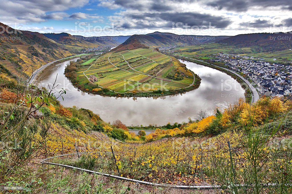 loop of the moselle stock photo
