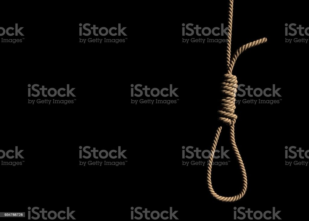 Loop rope with slipknot. stock photo