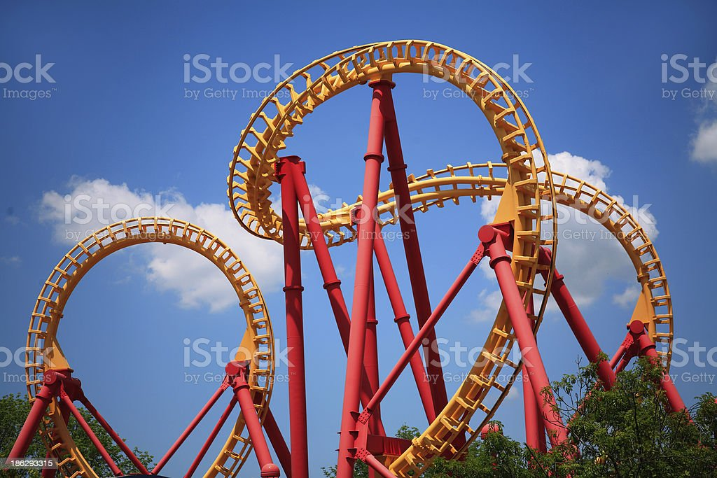 Looping Roller Coaster stock photo