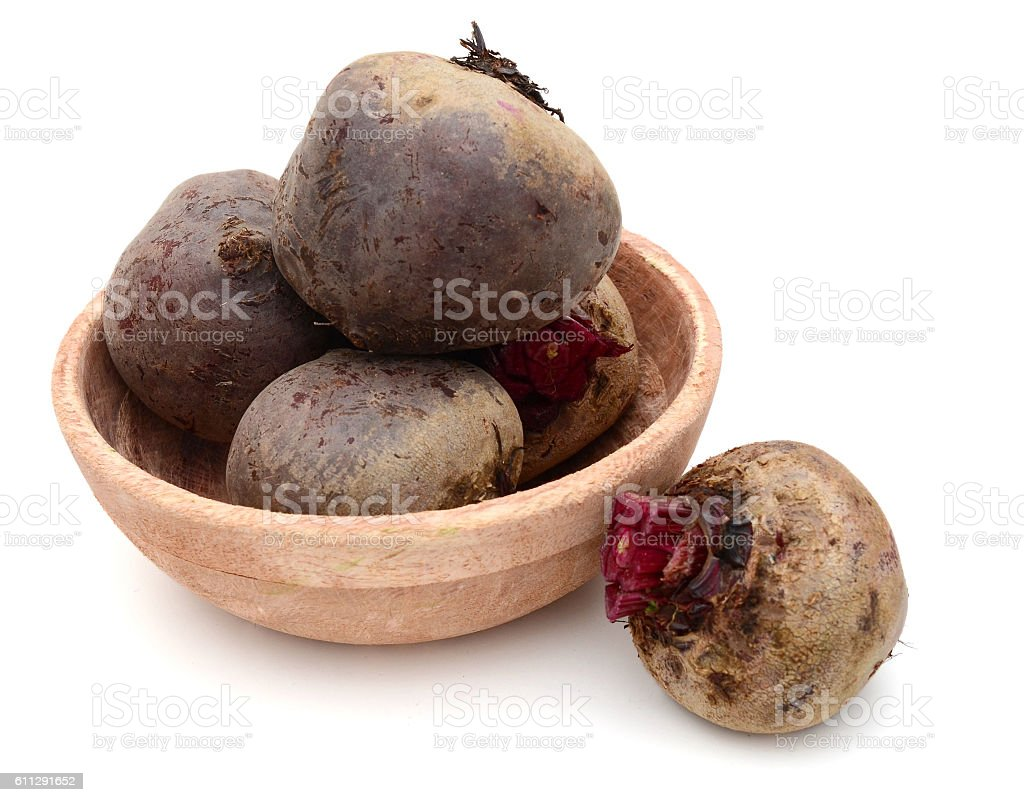 Loose beetroots on white stock photo