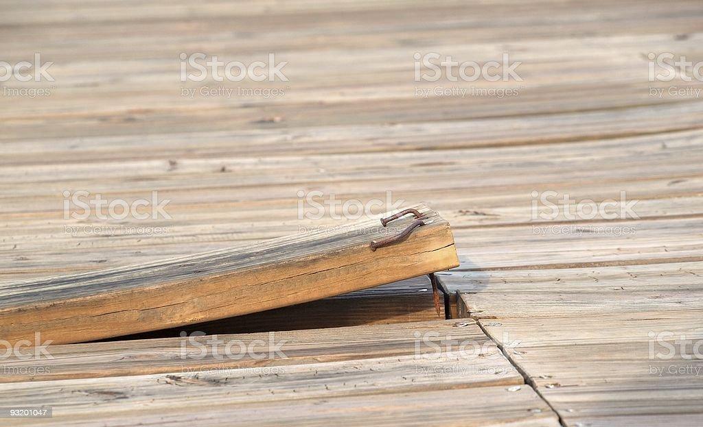 Loose Floorboard stock photo