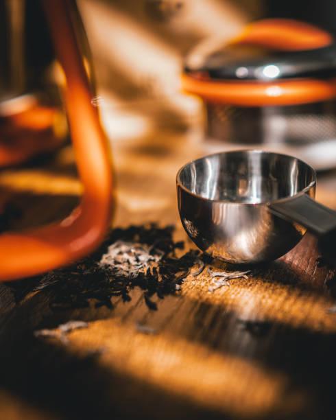 Loose Leaf Dried Tea stock photo