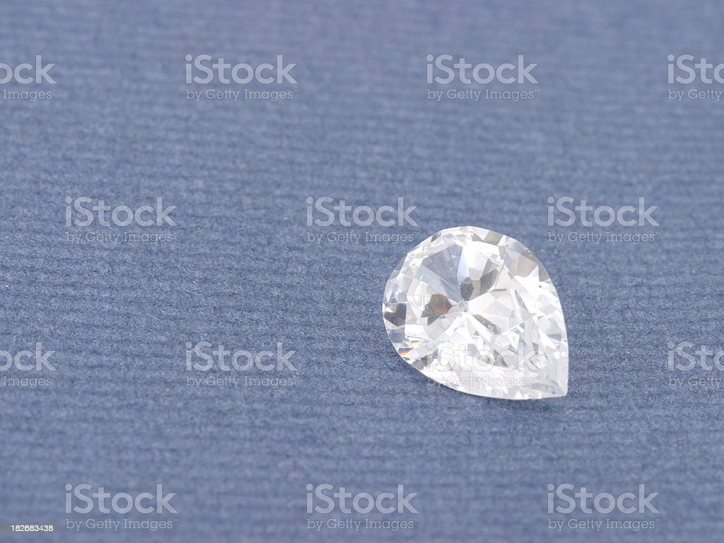 Loose Pear Diamond royalty-free stock photo