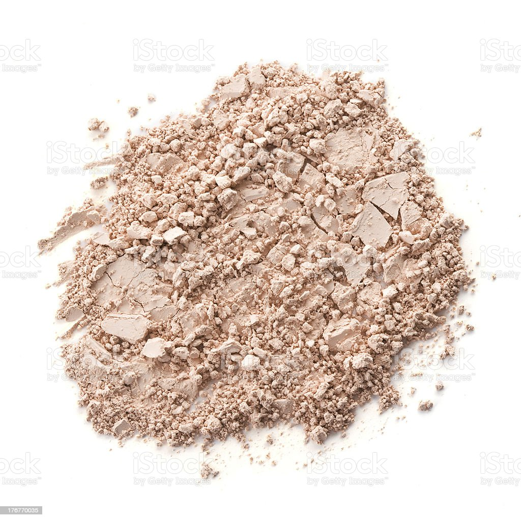 Loose Powder isolated on white background. royalty-free stock photo