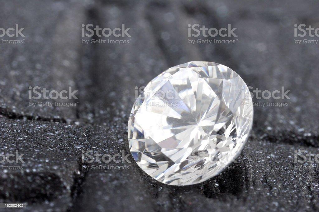 Loose Round diamond royalty-free stock photo