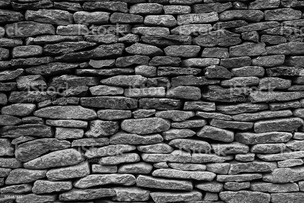 loose Stone Built Wall stock photo