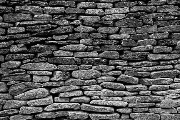 loose Stone Built Wall stock photo