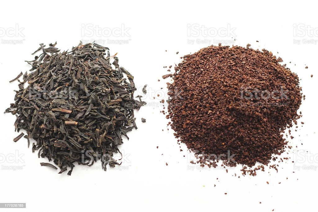 Loose Tea and Coffee Grounds stock photo