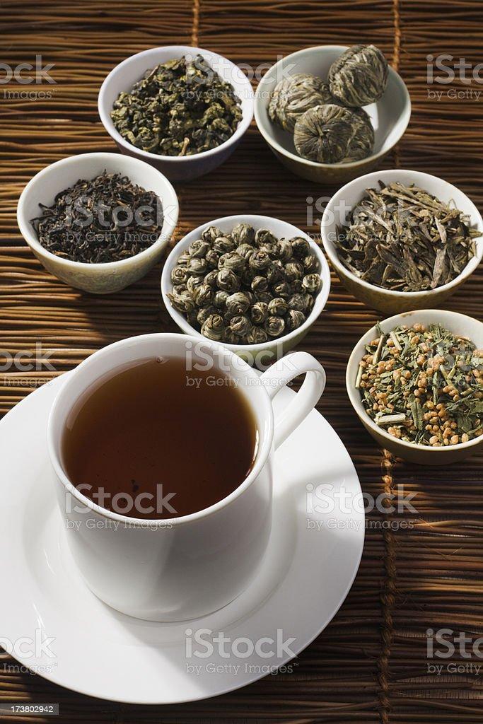 Loose Tea Selection Vt royalty-free stock photo