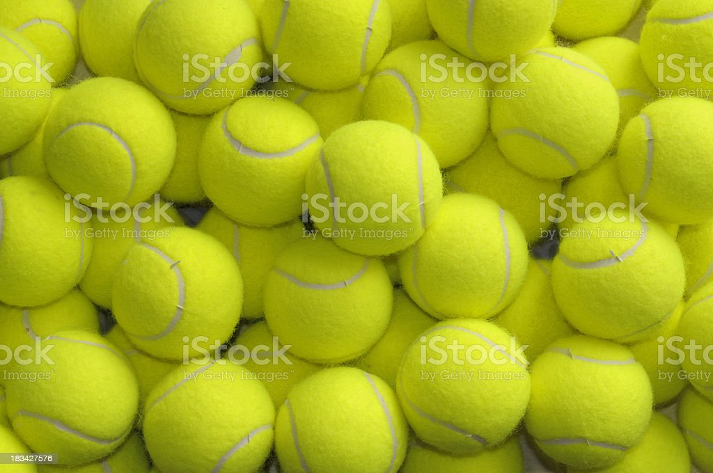 Loose Tennis Balls royalty-free stock photo