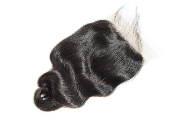 locker gewellt schwarz mit haar webt erweiterungen die schnürung - halbperücke stock-fotos und bilder