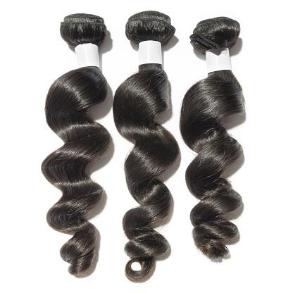 loose wave human hair weft