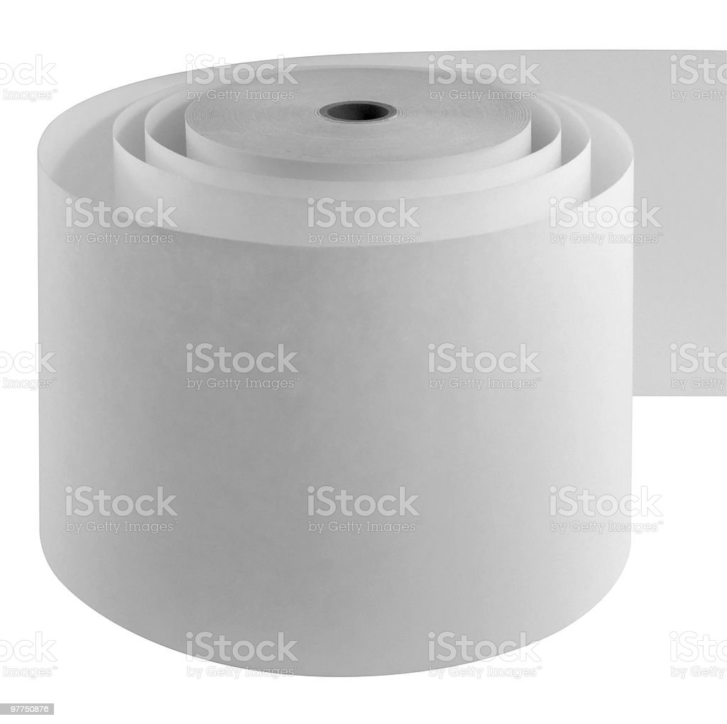 loose whitepaper roll royalty-free stock photo