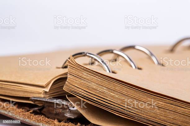 Looseleaf Binder And Blank Pages In A Notebook Stock Photo - Download Image Now