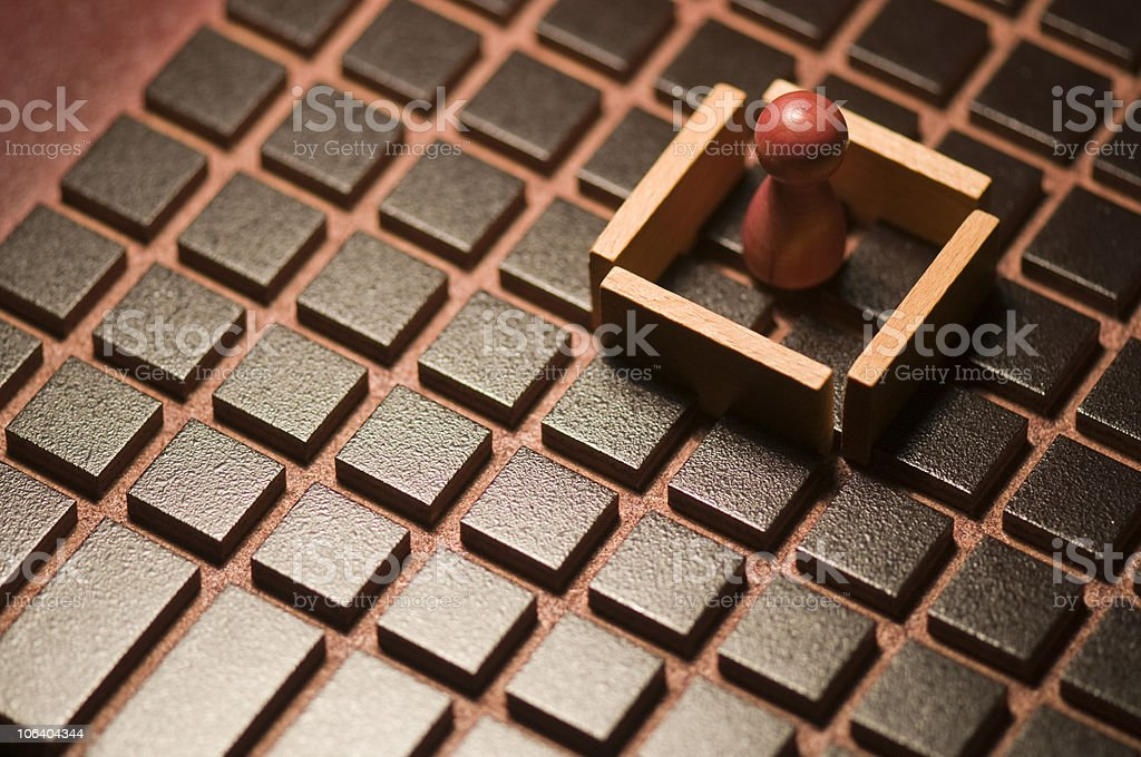 Loosing piece in precinct on the game board royalty-free stock photo