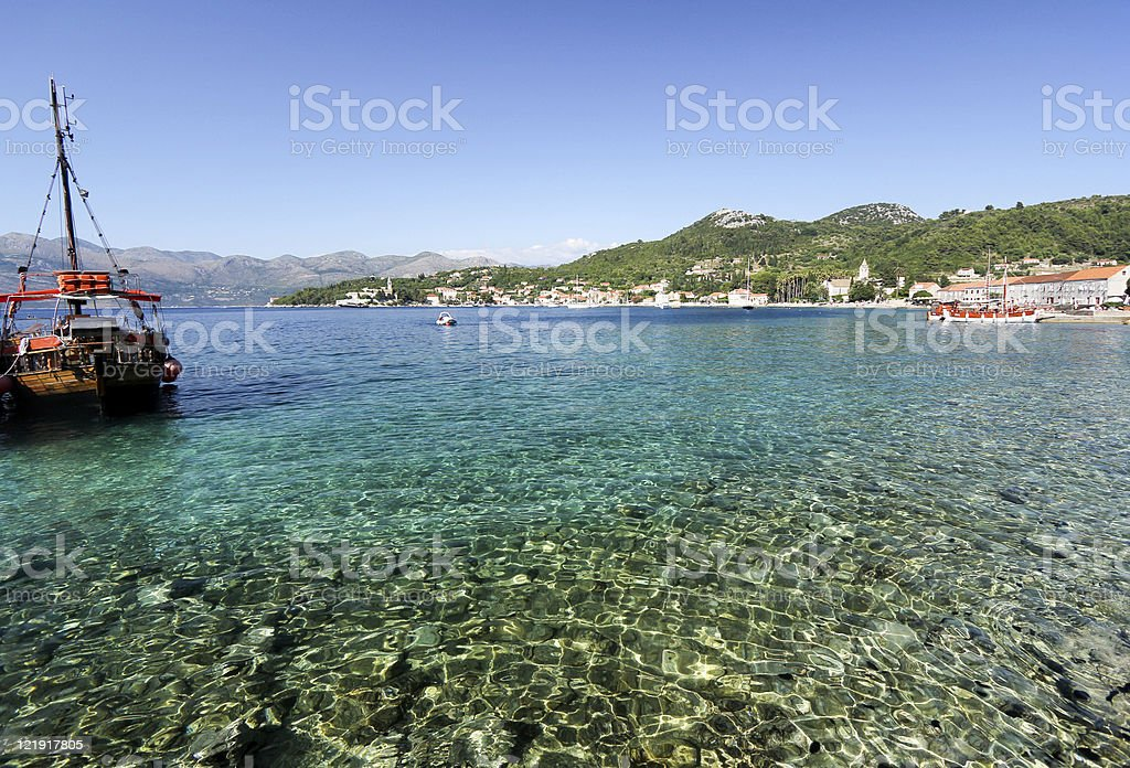 Lopud in Dalmatia, Croatia stock photo