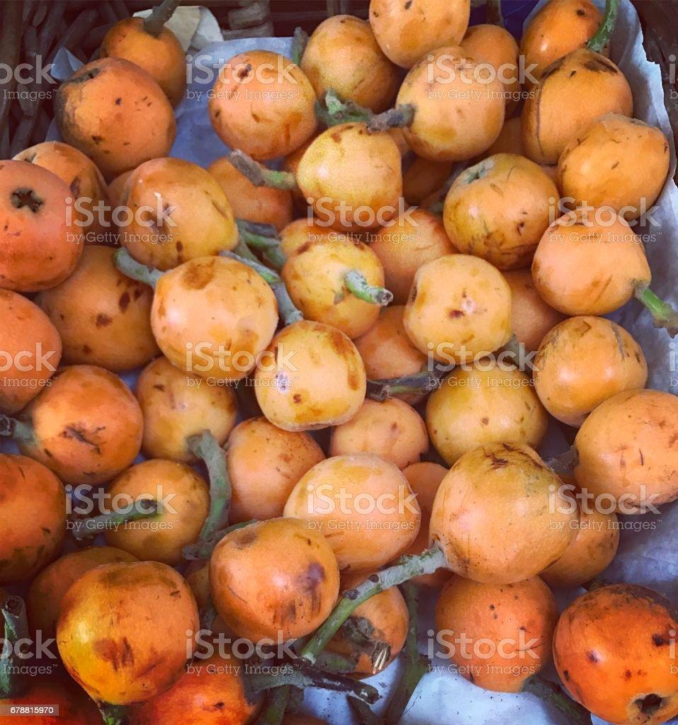 Loquat fruits frais photo libre de droits