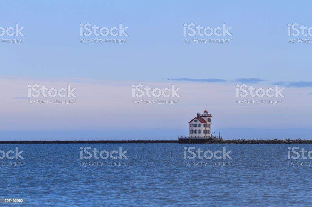 Lorain lighthouse stock photo