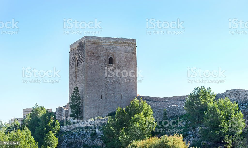 Lorca Castle stock photo