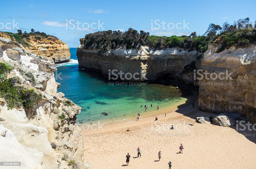 Lord Ard Gorge on the Great Ocean Road, Australia stock photo