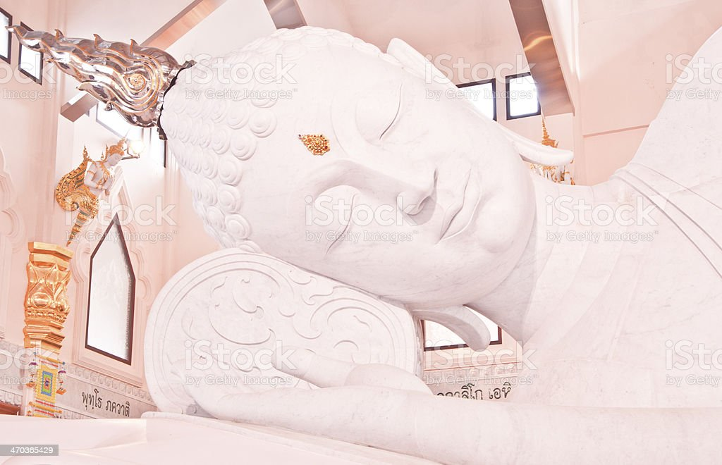 Lord Buddha made of white jade royalty-free stock photo