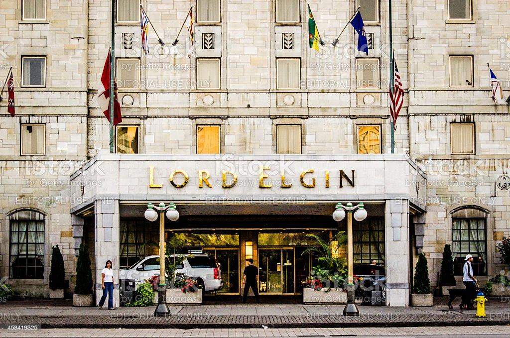 Lord Elgin Hotel stock photo