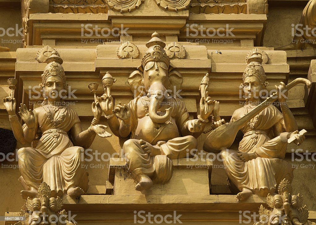Lord Ganesha at Sri Naheshwara in Bangalore. royalty-free stock photo