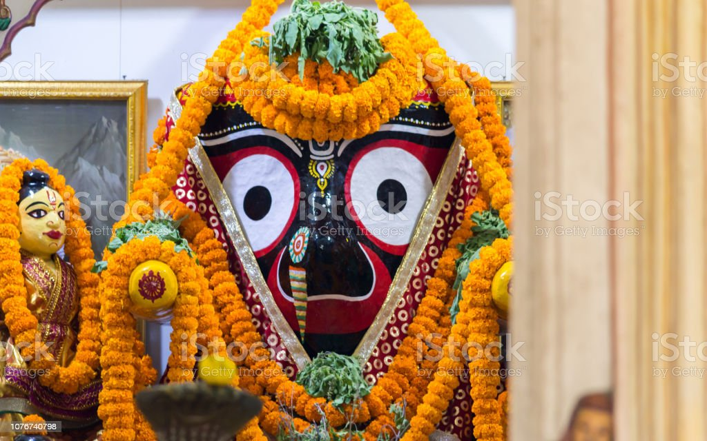 Lord Jagannath At A Temple In Puri Stock Photo - Download