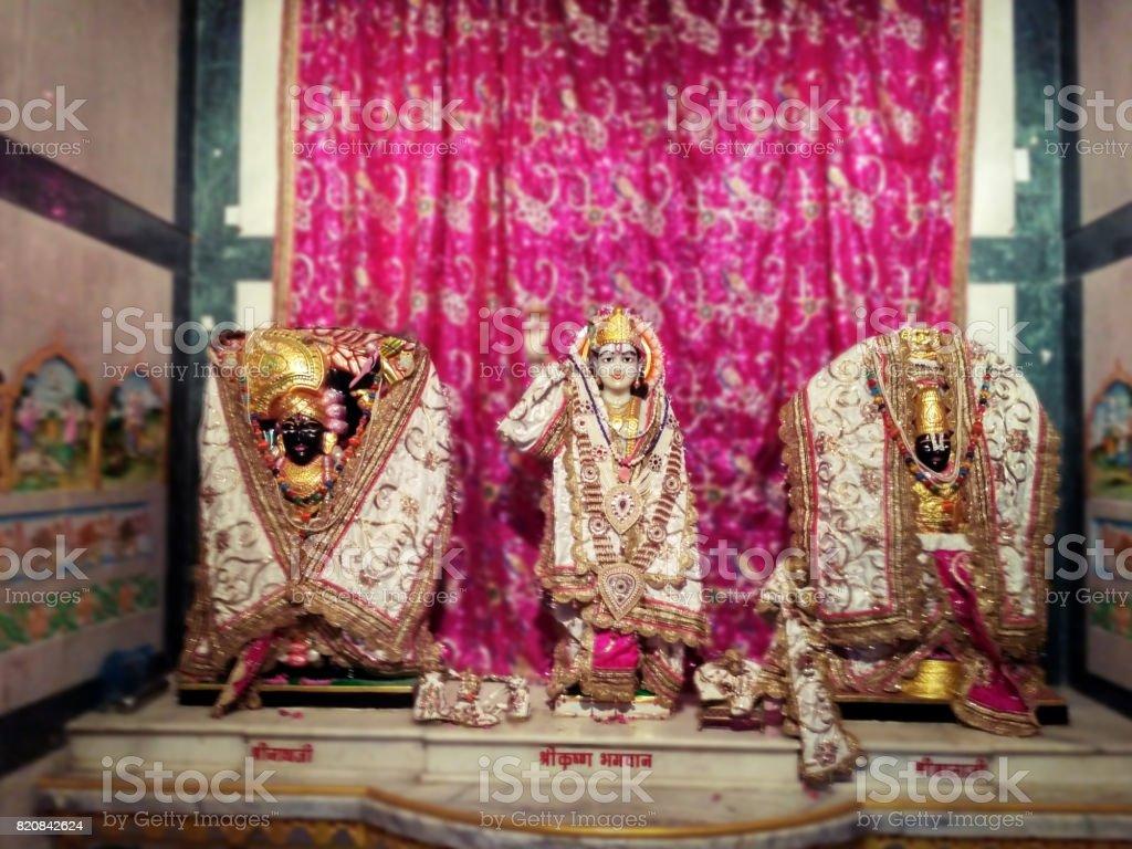 Lord Krishna Image - Indian Gods stock photo