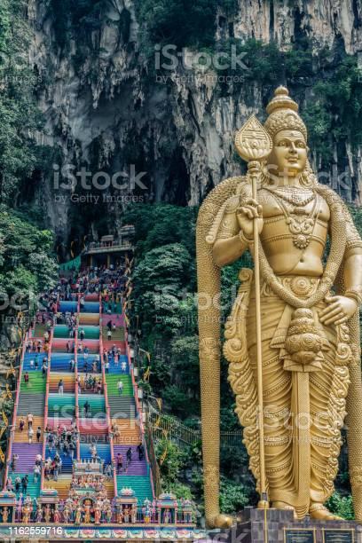 Lord Murugan Statue In Batu Caves Hindu Temple Stock Photo - Download Image Now