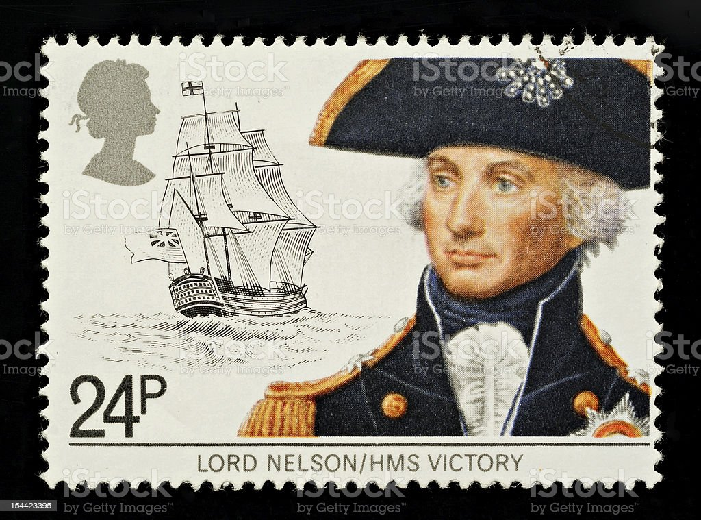 Lord Nelson Postage Stamp stock photo