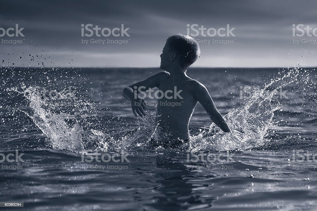 Lord of splashes royalty-free stock photo
