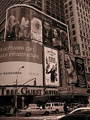 Lord of the Rings billboard in Times Square NYC 2003