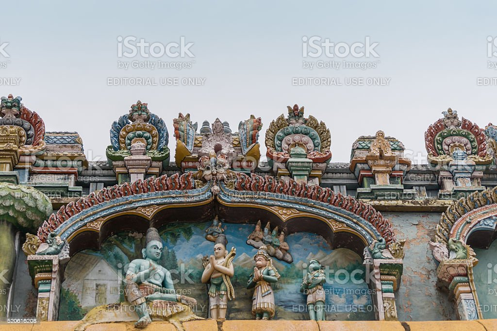 Lord Rama mural at Shirangam Temple. stock photo