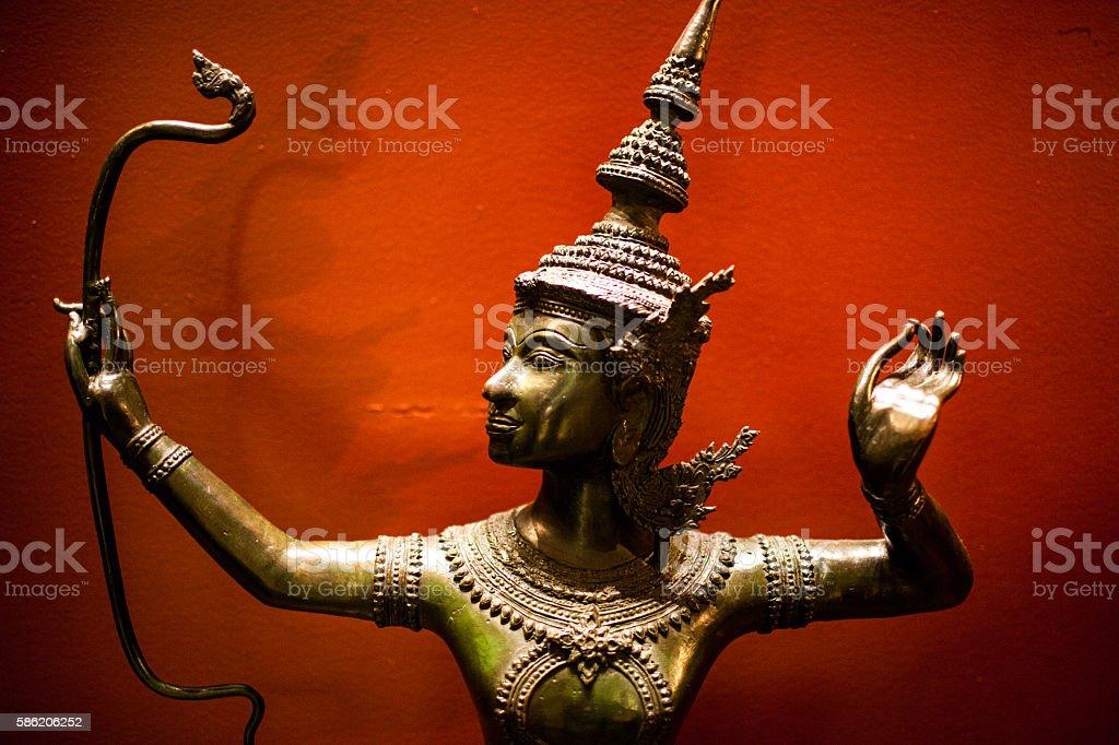 Lord Rama statue stock photo