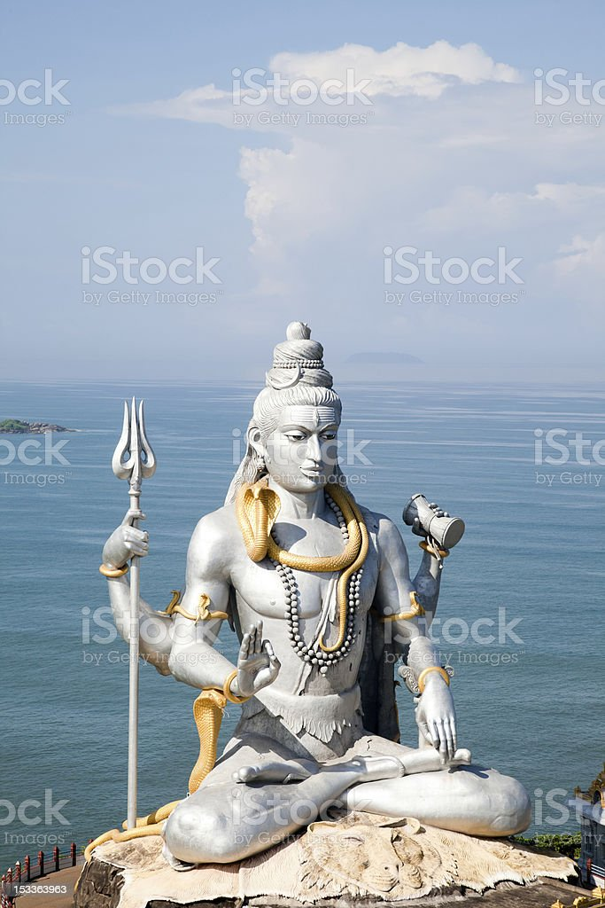 Lord Shiva idol royalty-free stock photo