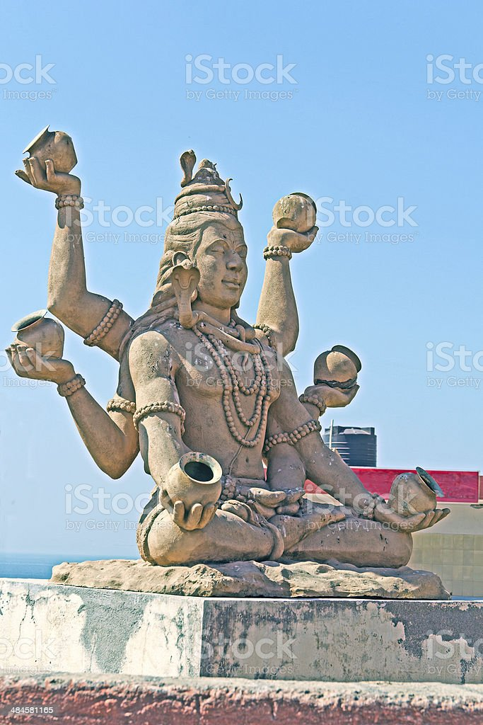 Lord Shiva in Somnath stock photo