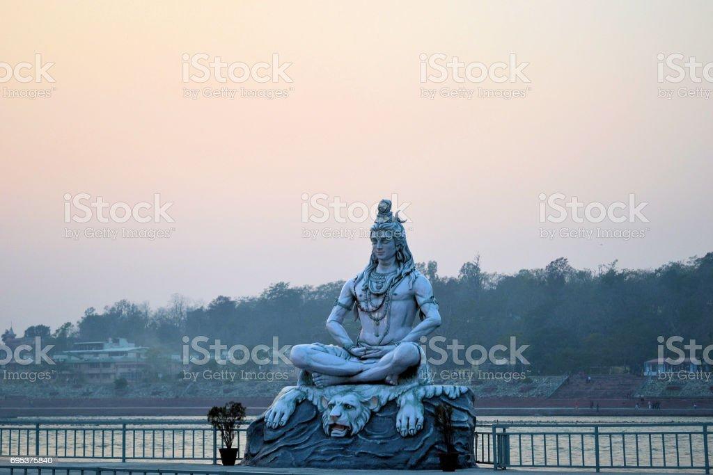 Lord Shiva Statue stock photo