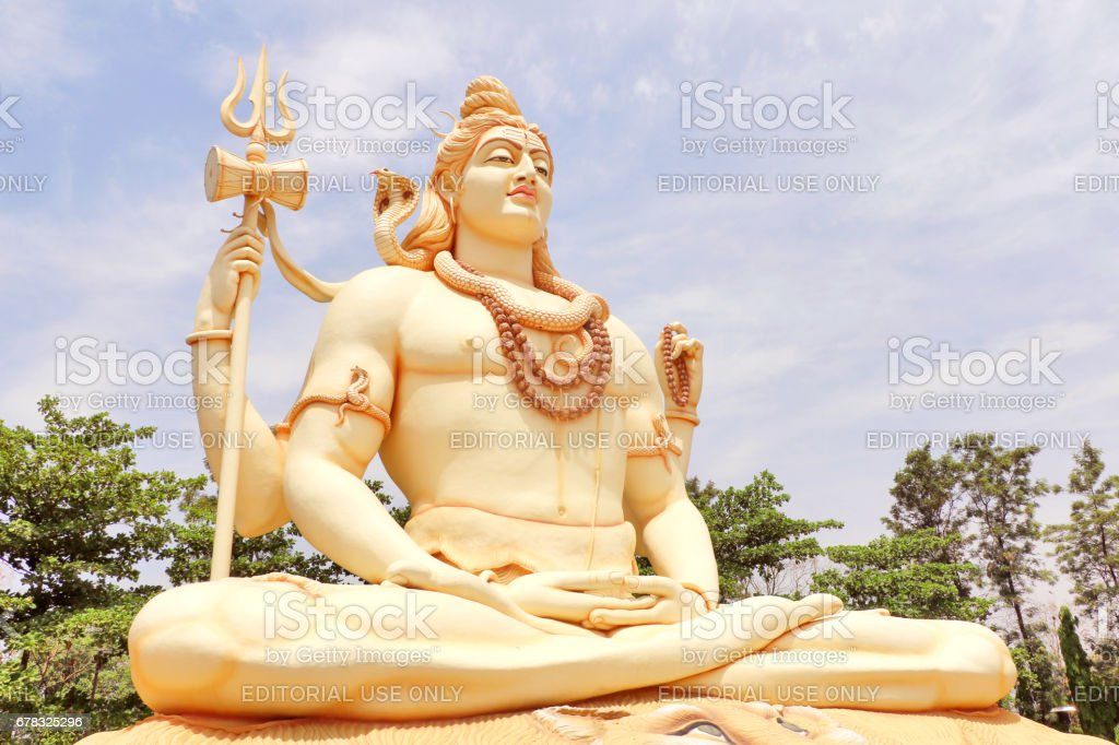 Lord Shiva, the almighty god of Hinduism stock photo