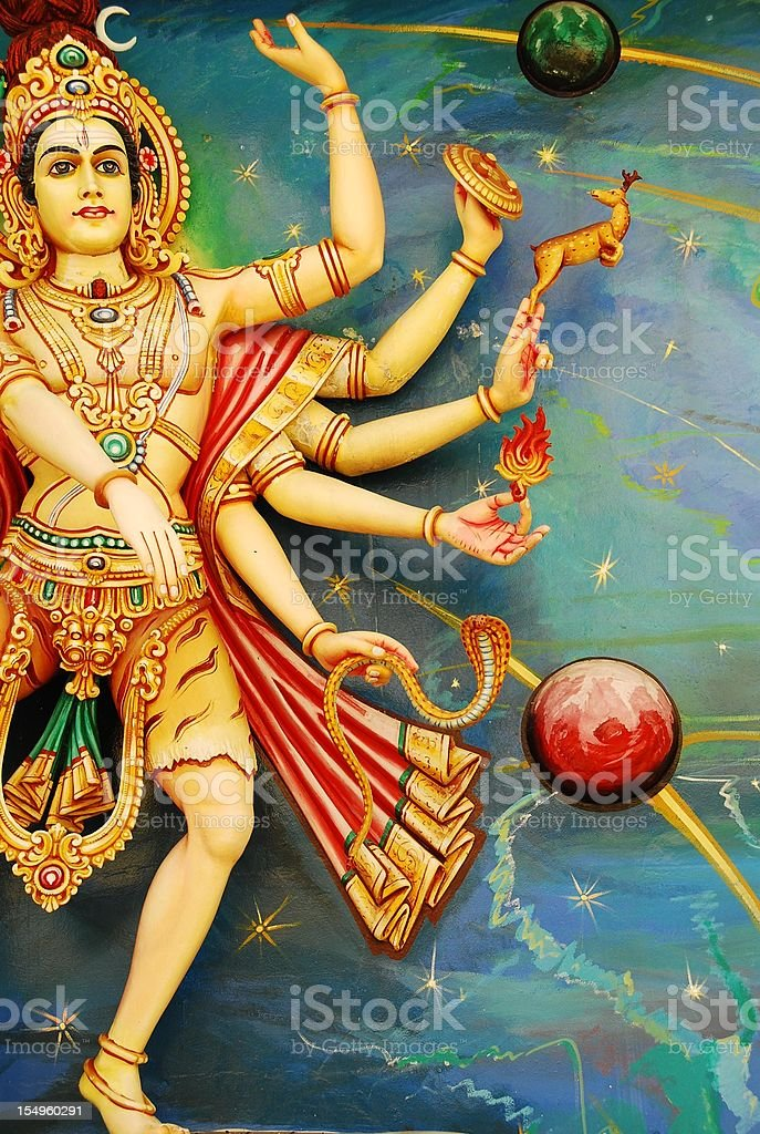 Lord Siva, Ruler of the Universe royalty-free stock photo