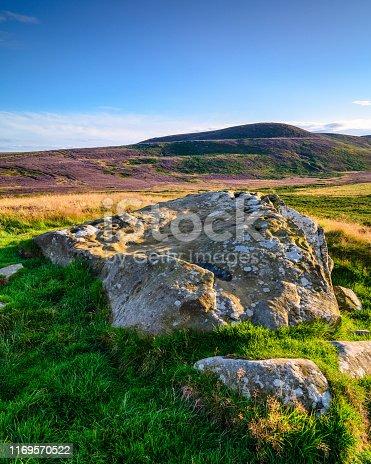 istock Lordenshaws Prehistoric Rock and Simonside Hills portrait 1169570522