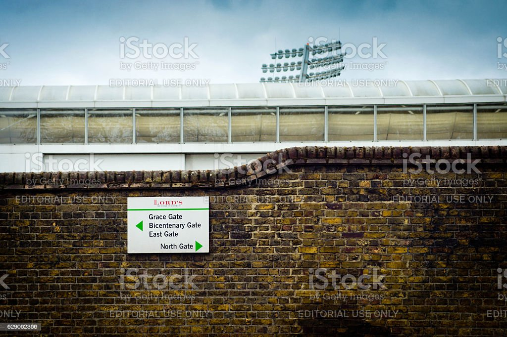 Lord's cricket ground stock photo