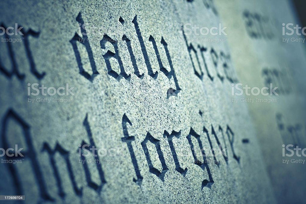 Lord's Prayer royalty-free stock photo