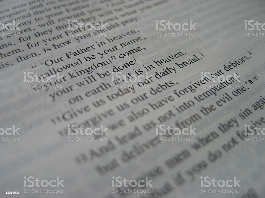 Lord's Prayer - Unrendered stock photo