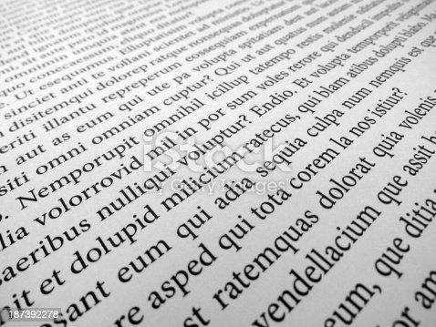 a detail of the famous LOREM IPSUM dummy text